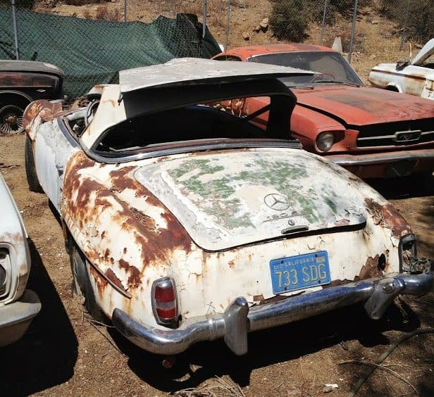 classic car for sale - 1962 Mercedes 190sl Roadster - $12k
