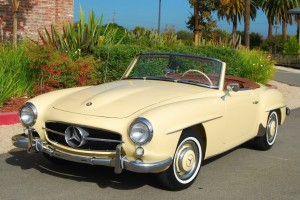 classic car for sale mercedes 190sl cream