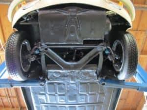 1965 Porsche 356c restoration - underneath
