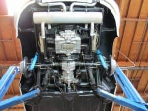 1965 Porsche 356c restoration - underside