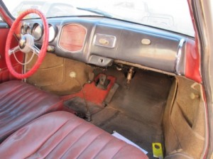 1955 Porsche 356 restoration - inside before