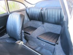 1965 Porsche 356c restoration - back seats