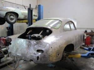 1965 Porsche 356c restoration - exterior back