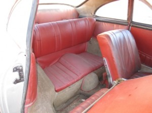 1955 Porsche 356 restoration - back seats