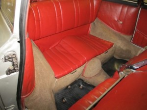 1955 Porsche 356 restoration - back seats 2