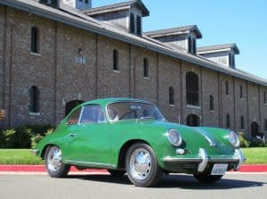 1965 porsche 356c green