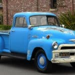 Side 1955 Chevy Truck Blue For Sale