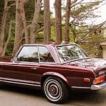 Burgundy 1967 Mercedes 250SL For Sale Back Left