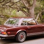 Burgundy 1967 Mercedes 250SL For Sale Back Right