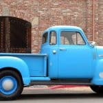 Side On 1955 Chevy Truck Blue For Sale