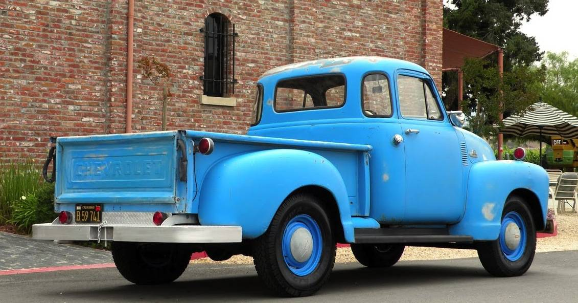 Back 1955 Chevy Truck Blue For Sale