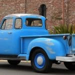 Back Left 1955 Chevy Truck Blue For Sale