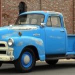 Front Left 1955 Chevy Truck Blue For Sale