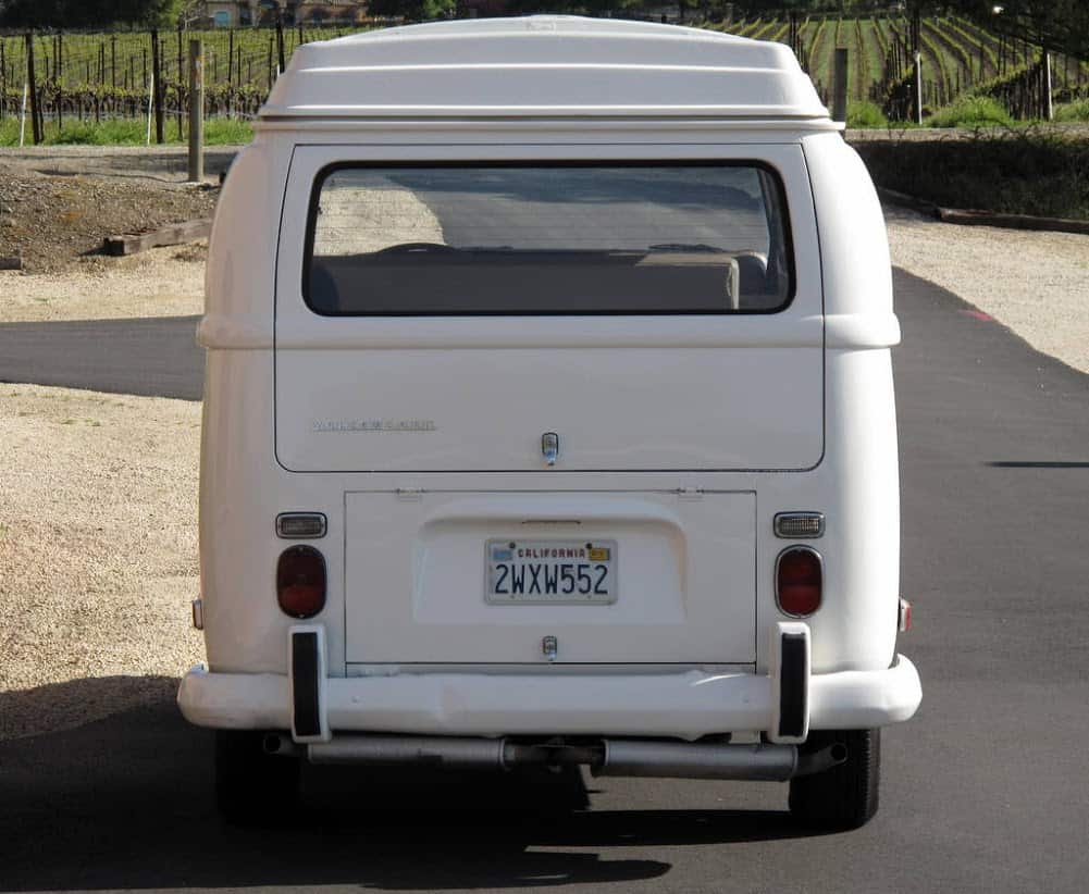 1970 White VW Bus For Sale Back