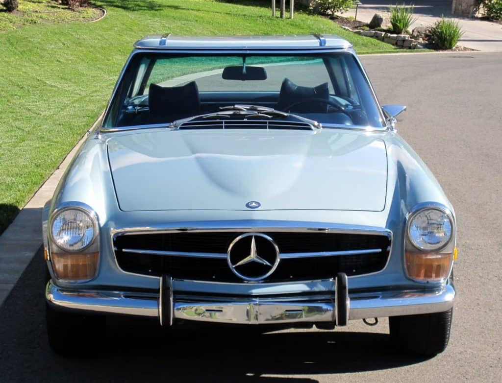 blue 1970 mercedes 280sl for sale contact dusty cars. Black Bedroom Furniture Sets. Home Design Ideas