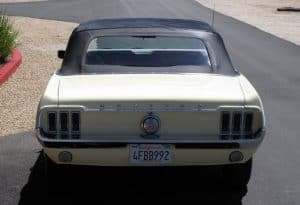 1967 Mustang Convertible For Sale Back