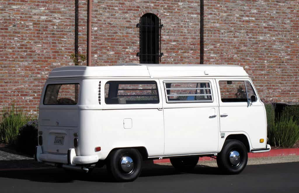 1970 White VW Bus For Sale Back Right