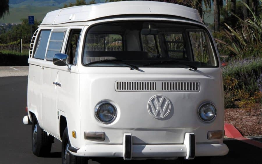 1970 White VW Bus For Sale Front