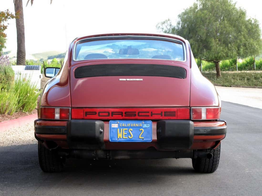 Red 1976 Porsche 912e For Sale Back