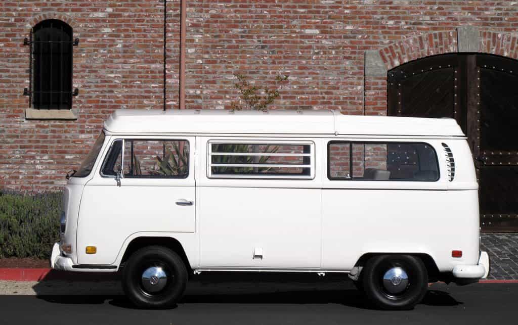 1970 White VW Bus For Sale Side Left