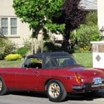 Red 1974 MG MGB For Sale Left