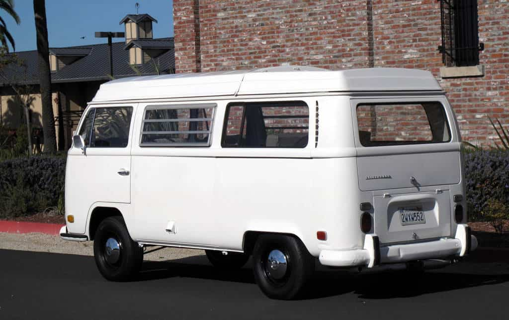 1970 White VW Bus For Sale Back Left