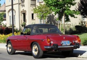 Red 1974 MG MGB For Sale Back