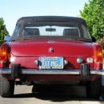 Red 1974 MG MGB For Sale Back Side