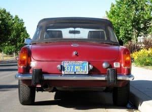 Red 1974 MG MGB For Sale Back Side