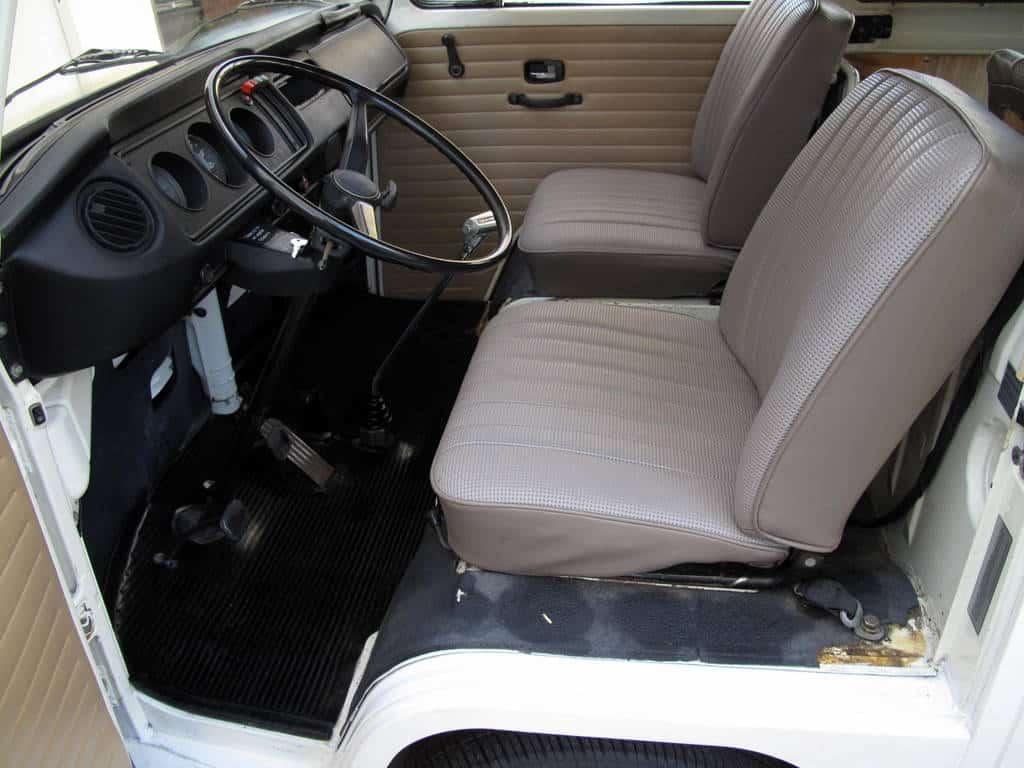 1970 White VW Bus For Sale Steering Wheel