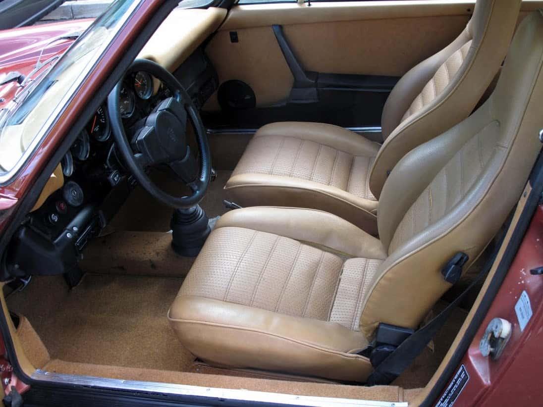 Red 1976 Porsche 912e For Sale Interior