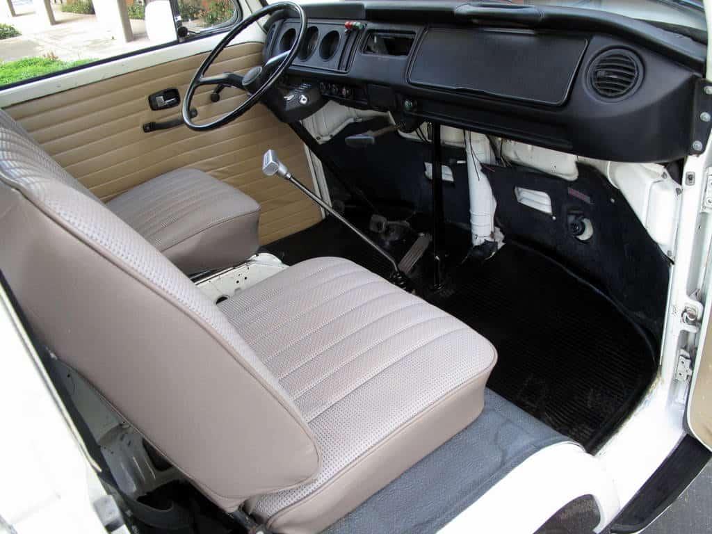 1970 White VW Bus For Sale Interior