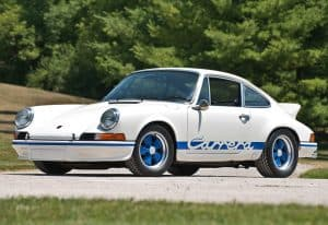 1973 Porsche 911 Carrera RS 2.7 Sport (901); top car design rating and specifications